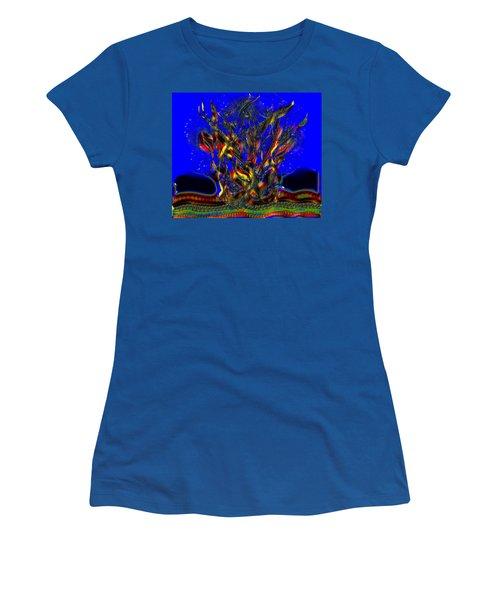 Women's T-Shirt (Junior Cut) featuring the digital art Camp Fire Delight by Alec Drake