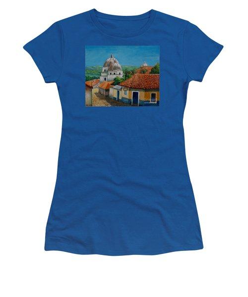 Church Of Pespire In Honduras Women's T-Shirt (Athletic Fit)