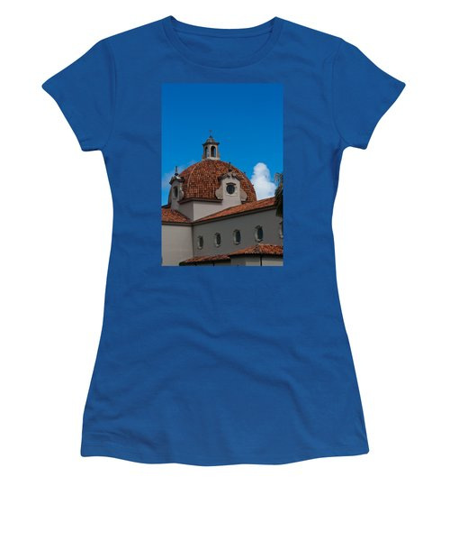 Women's T-Shirt (Junior Cut) featuring the photograph Church Of The Little Flower Dome And Cross by Ed Gleichman