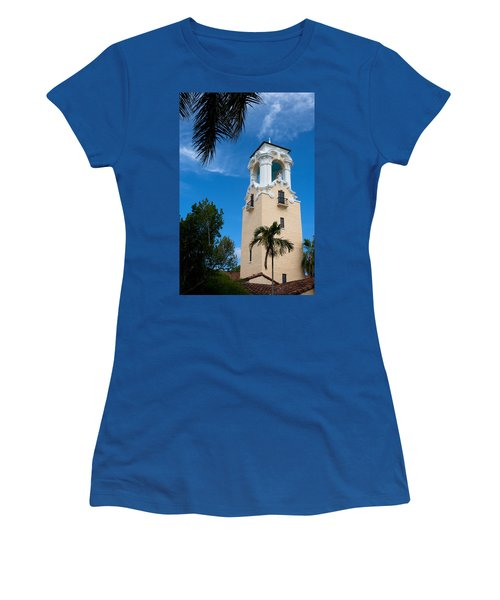 Women's T-Shirt (Junior Cut) featuring the photograph Congregational Church Of Coral Gables by Ed Gleichman