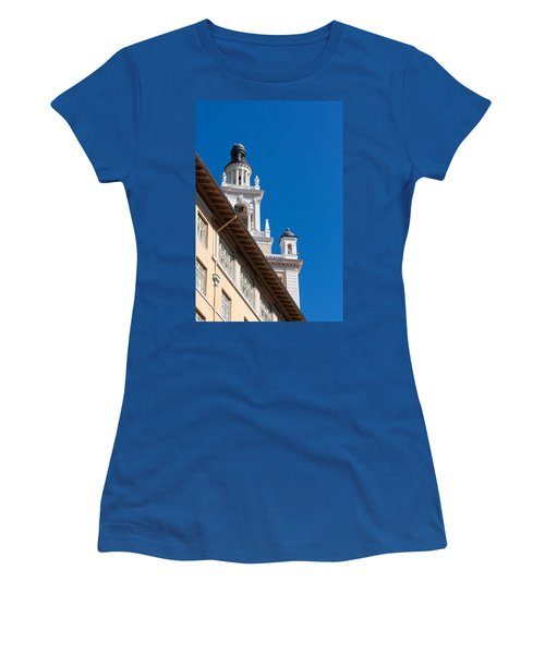 Women's T-Shirt (Junior Cut) featuring the photograph Coral Gables Biltmore Hotel Tower by Ed Gleichman