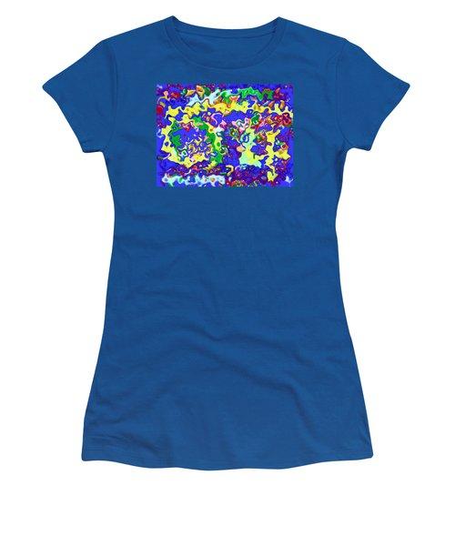 Women's T-Shirt (Junior Cut) featuring the digital art Fiesta In San Antonio by Alec Drake