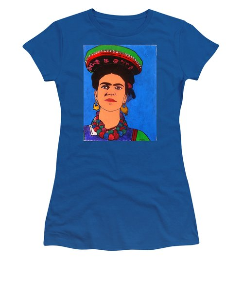 Frida Kahlo Women's T-Shirt (Junior Cut) by Roberto Prusso