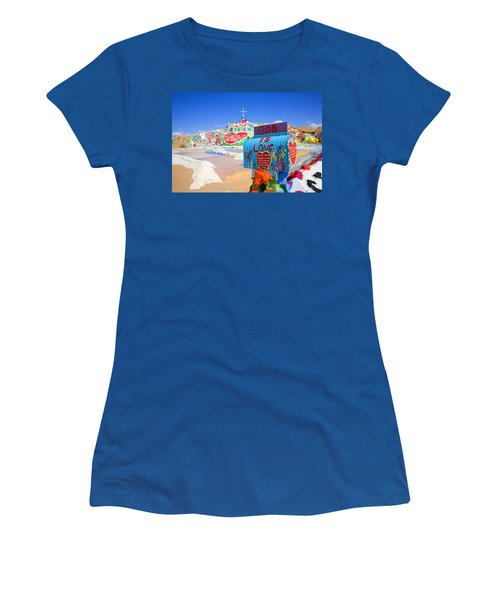 Women's T-Shirt (Junior Cut) featuring the photograph God's Mailbox by Hugh Smith