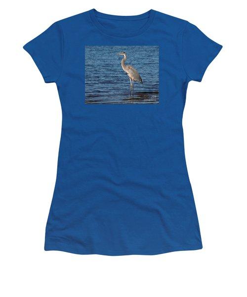 Great Blue Heron Women's T-Shirt (Junior Cut) by Art Whitton