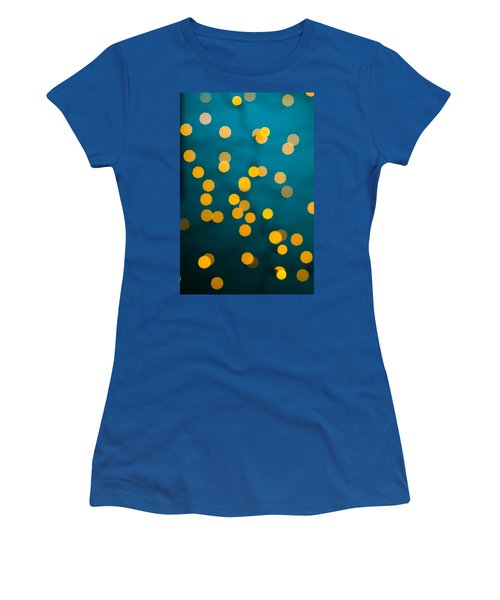 Green Background With Gold Dots  Women's T-Shirt (Athletic Fit)