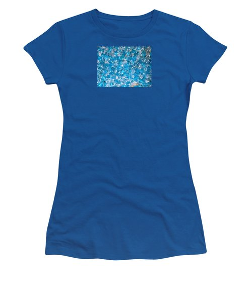 Ice Blues Women's T-Shirt (Junior Cut) by Beth Saffer
