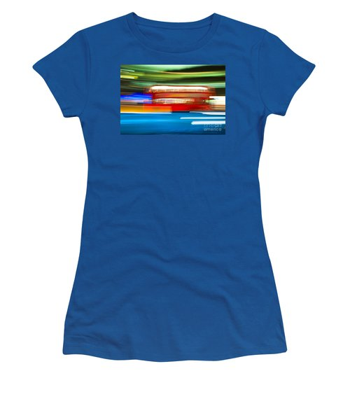 Women's T-Shirt (Junior Cut) featuring the photograph London Bus Motion by Luciano Mortula