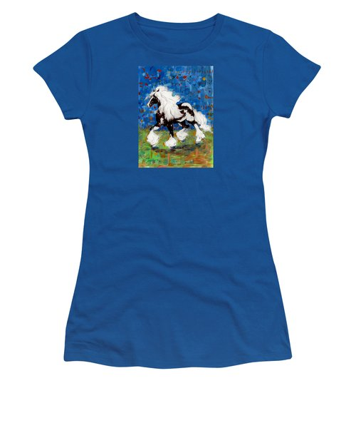 Women's T-Shirt (Junior Cut) featuring the painting Majestic One by Mary Armstrong