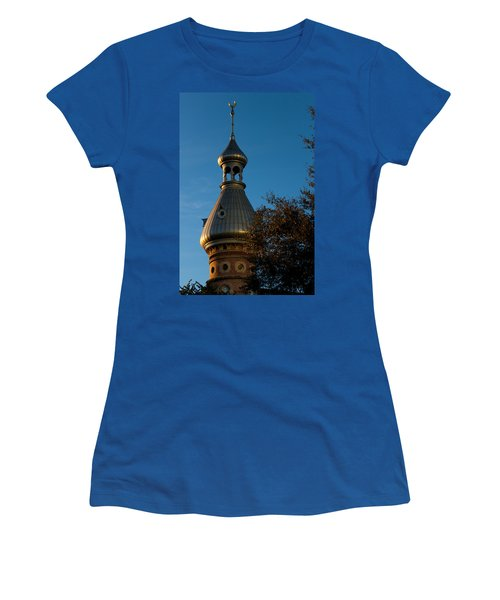 Women's T-Shirt (Junior Cut) featuring the photograph Minaret And Trees by Ed Gleichman