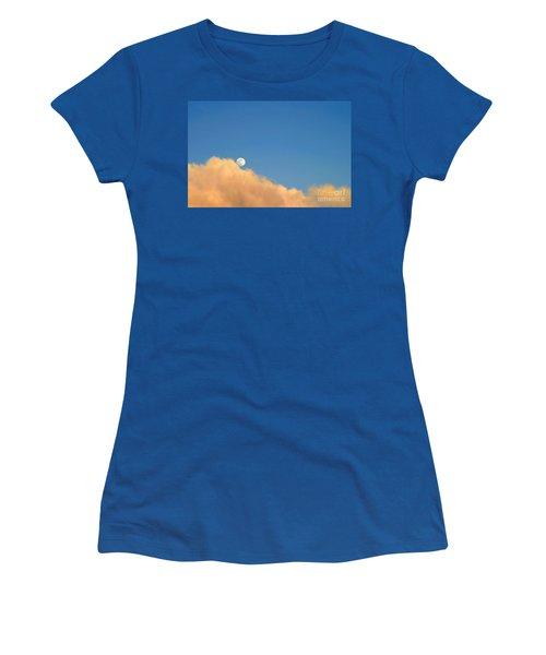 Moon At Sunset Women's T-Shirt