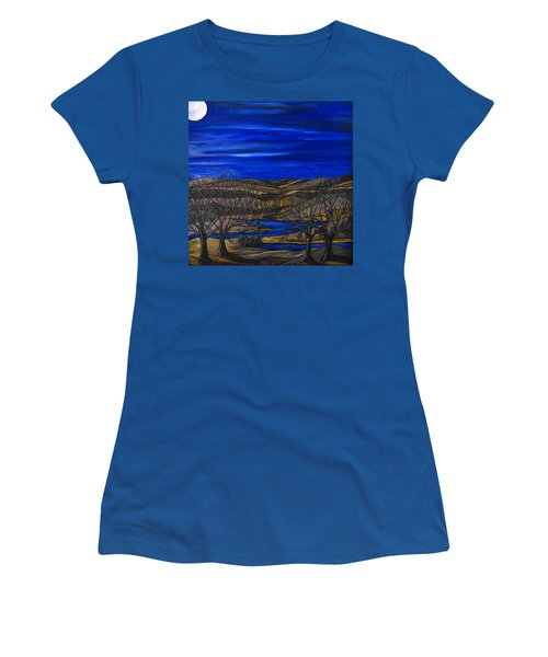 Moonlit Night Women's T-Shirt (Athletic Fit)