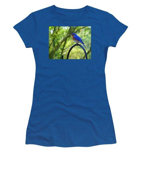 Mr Bluebird Women's T-Shirt (Athletic Fit)