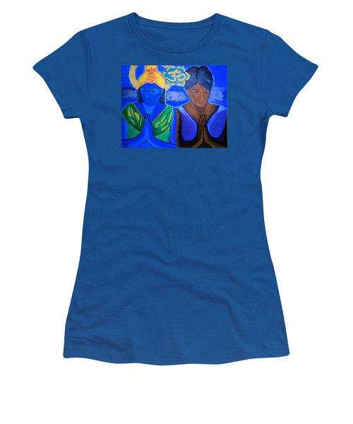 Namaste-we Are One Women's T-Shirt (Junior Cut) by Lisa Brandel