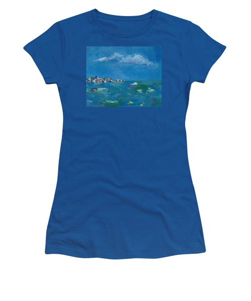 Women's T-Shirt (Junior Cut) featuring the painting Ocean Delight by Judith Rhue