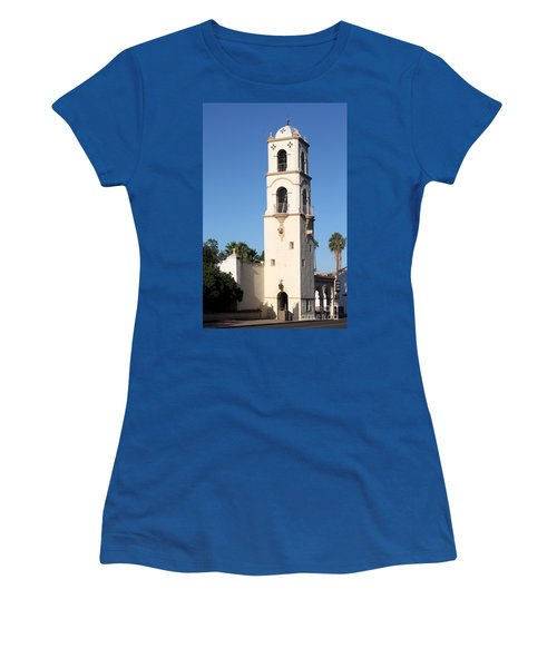 Ojai Post Office Tower Women's T-Shirt (Junior Cut) by Henrik Lehnerer