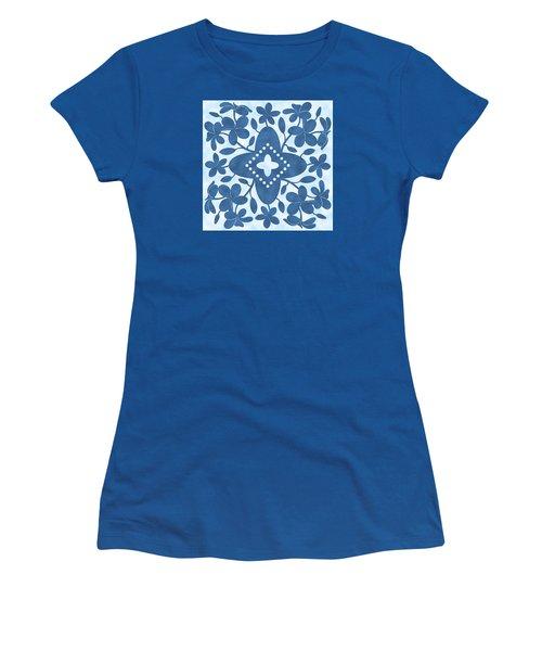 Plumeria Hawaiian Quilt Block Women's T-Shirt (Athletic Fit)