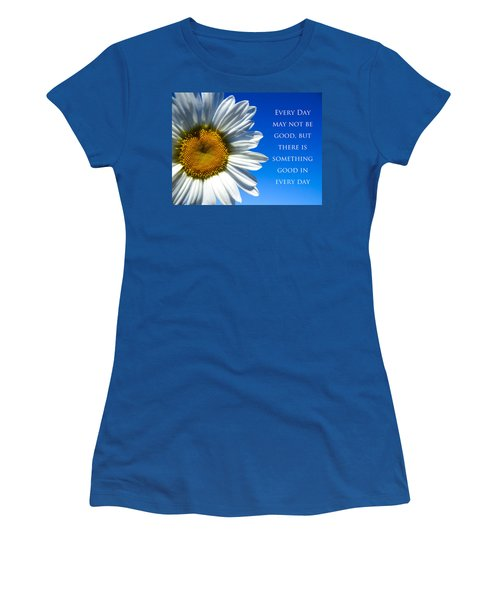 Women's T-Shirt (Junior Cut) featuring the photograph Something Good by Julia Wilcox