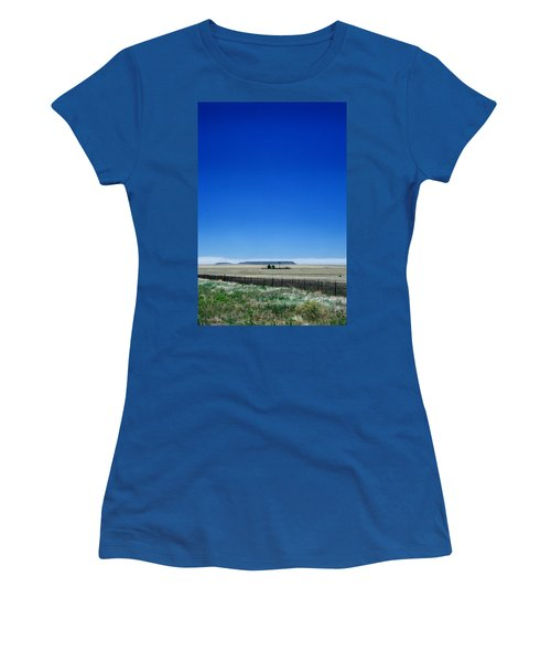 Women's T-Shirt (Junior Cut) featuring the photograph Somewhere On Hwy 285 Number One by Lon Casler Bixby