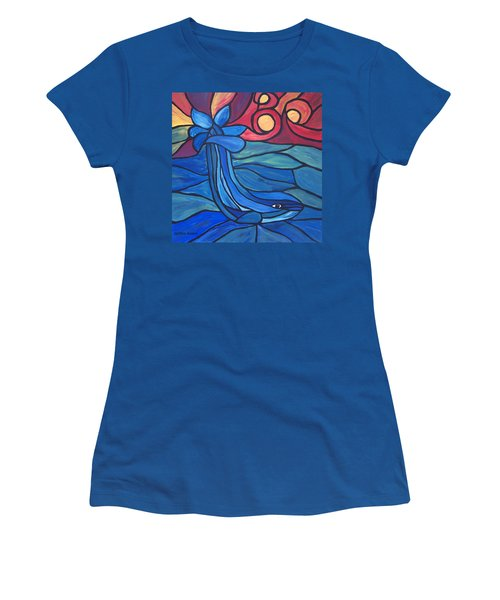 Women's T-Shirt featuring the painting Splash by Cynthia Amaral
