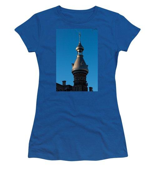 Women's T-Shirt (Junior Cut) featuring the photograph Tampa Bay Hotel Minaret by Ed Gleichman