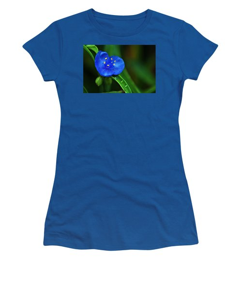 Yellow Blue And Raindrops Women's T-Shirt