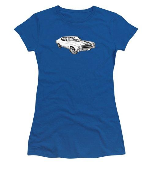 1971 Chevrolet Chevelle Ss Illustration Women's T-Shirt