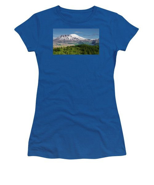 Castle Lake And Mt. St. Helens Women's T-Shirt (Athletic Fit)