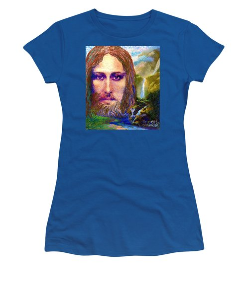 Contemporary Jesus Painting, Chalice Of Life Women's T-Shirt (Athletic Fit)