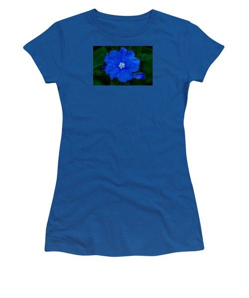 Women's T-Shirt (Junior Cut) featuring the photograph  Evolvulus Glomeratus by Keith Hawley
