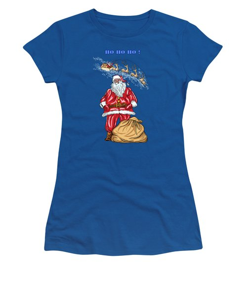 Women's T-Shirt (Junior Cut) featuring the painting  Santa Claus by Andrzej Szczerski