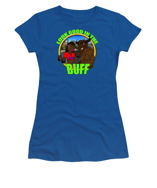 01 Look Good In The Buff Women's T-Shirt (Junior Cut) by Michael Frank Jr