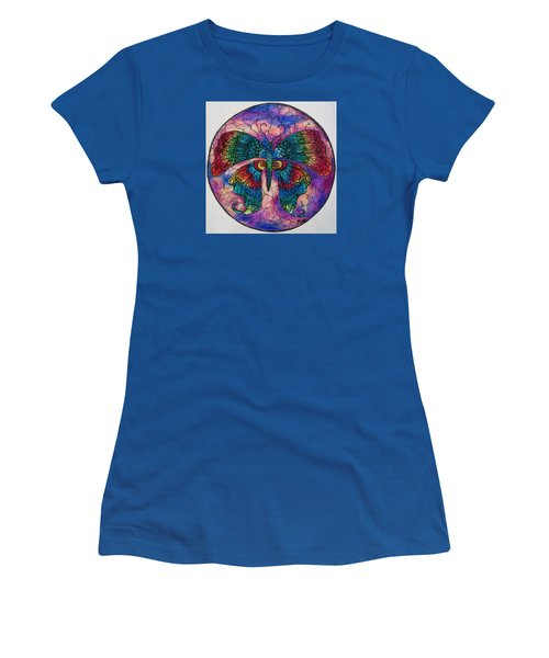 Butterfly Mandala Women's T-Shirt (Athletic Fit)