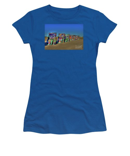 Cadillac Ranch 2 Women's T-Shirt (Athletic Fit)