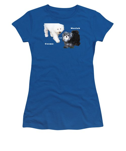 Cosmo And Meelah 1 Women's T-Shirt (Junior Cut) by Terry Wallace