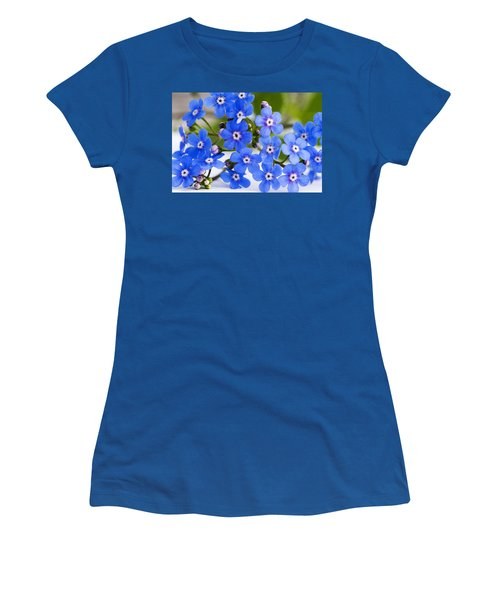 Women's T-Shirt (Junior Cut) featuring the photograph Forget-me-not by Chevy Fleet