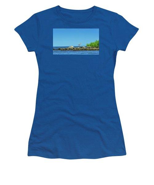 Great Blue Heron On The Chesapeake Bay Women's T-Shirt