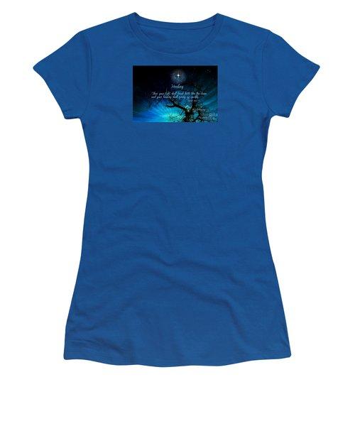 Women's T-Shirt (Junior Cut) featuring the digital art Healing Art By Sherri Of Palm Springs by Sherri  Of Palm Springs