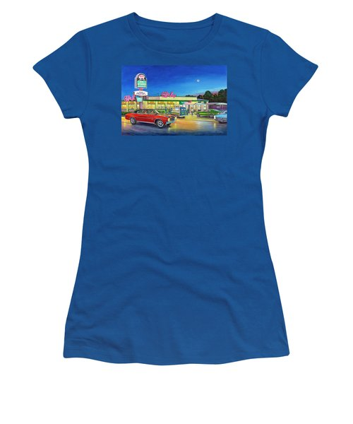 Muscle Car Cruise Night Women's T-Shirt (Athletic Fit)