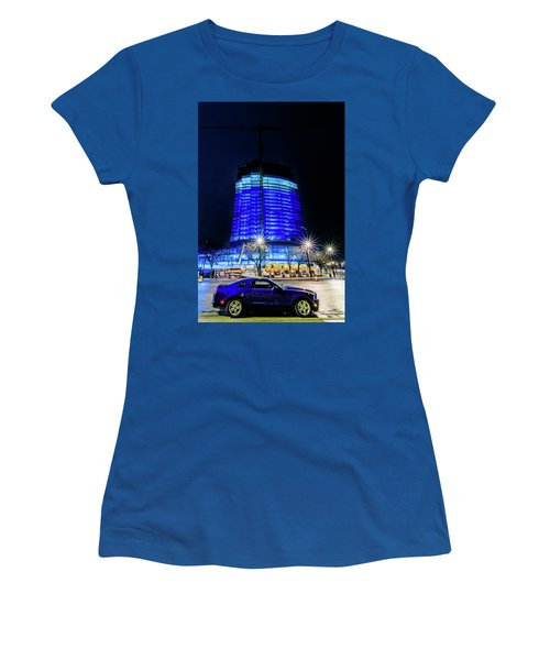 Women's T-Shirt (Athletic Fit) featuring the photograph Midnight Blues by Randy Scherkenbach