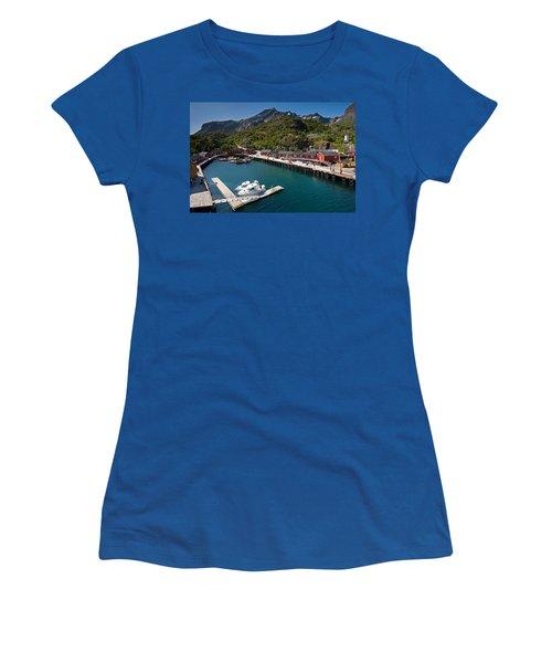 Nusfjord Fishing Village Women's T-Shirt