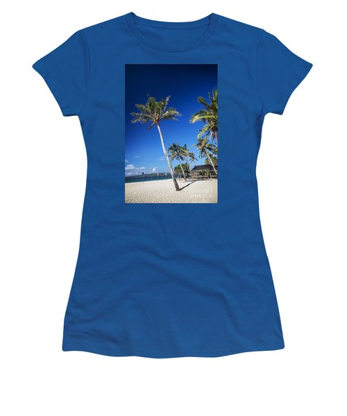Puka Beach In Tropical Paradise Boracay Philippines Women's T-Shirt (Athletic Fit)