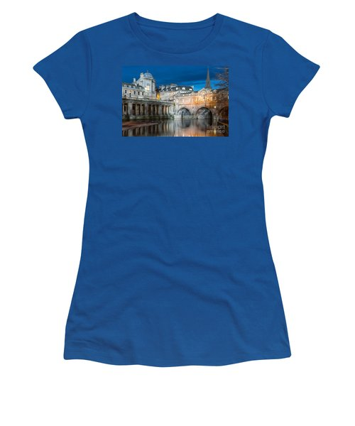 Pulteney Bridge, Bath Women's T-Shirt (Junior Cut) by Colin Rayner