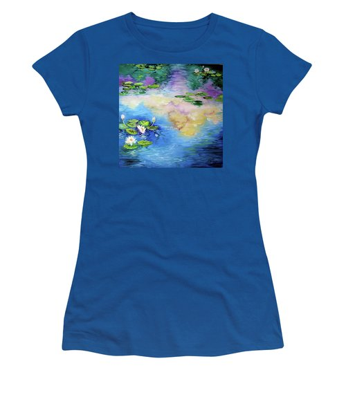 Reflections On A Waterlily Pond Women's T-Shirt
