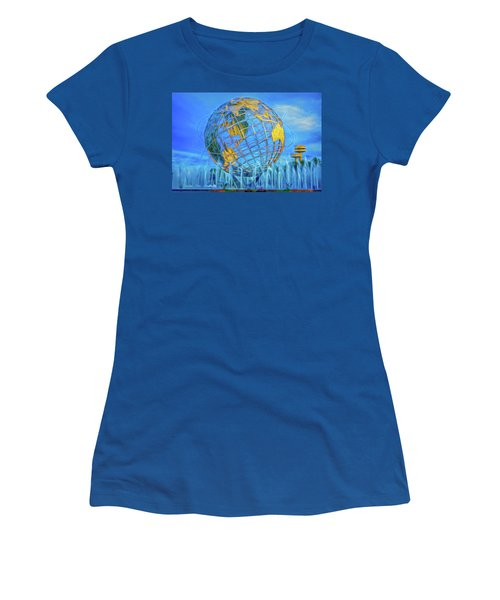 Women's T-Shirt featuring the photograph The Unisphere by Theodore Jones