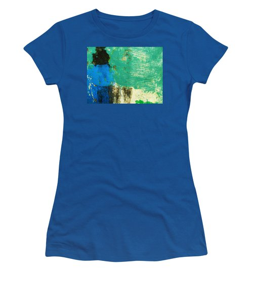 Wall Abstract 70 Women's T-Shirt (Junior Cut) by Maria Huntley