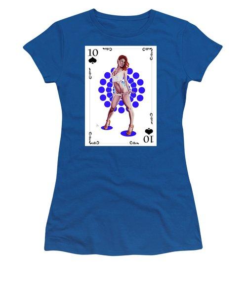 10 Of Spades Women's T-Shirt (Athletic Fit)