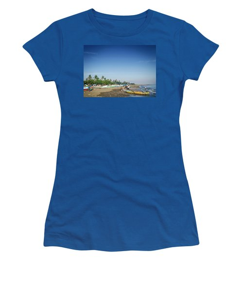 Traditional Fishing Boats On Dili Beach In East Timor Leste Women's T-Shirt (Athletic Fit)