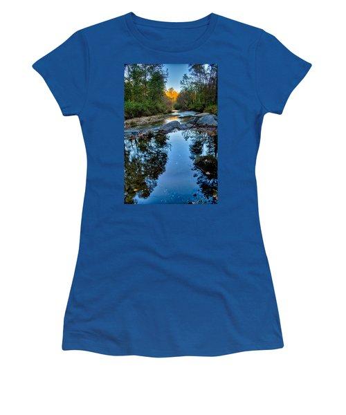 Stone Mountain North Carolina Scenery During Autumn Season Women's T-Shirt