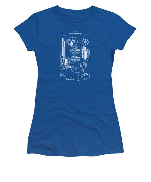 1875 Colt Peacemaker Revolver Patent Blueprint Women's T-Shirt